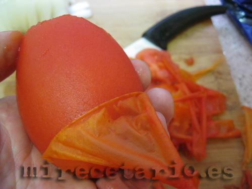 Pelar los tomates de pera