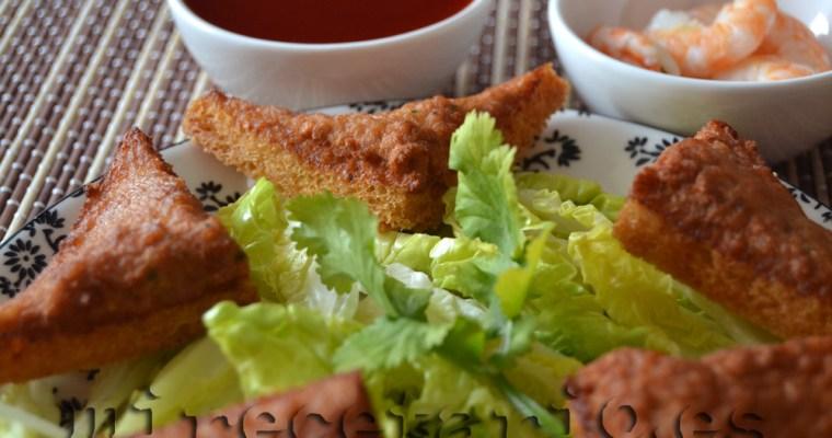 Tostadas tailandesas de cerdo y gamba