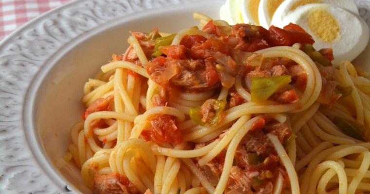 Spaguetti con mi salsa de tomate casera {Pastas Barilla}