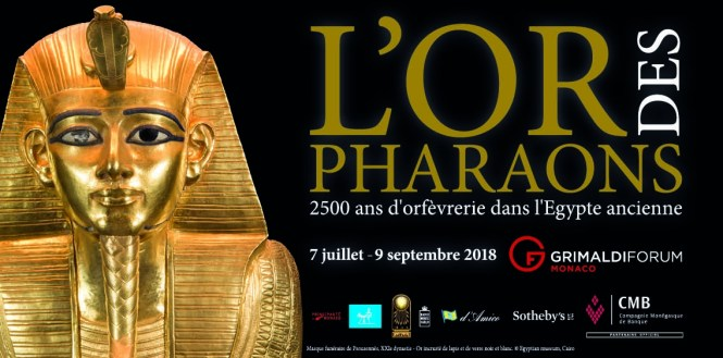 l'or des pharaons au grimaldi forum Monaco
