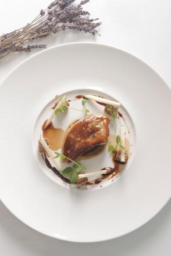 Pan-seared foie gras, red onion chutney, balsamic reduction