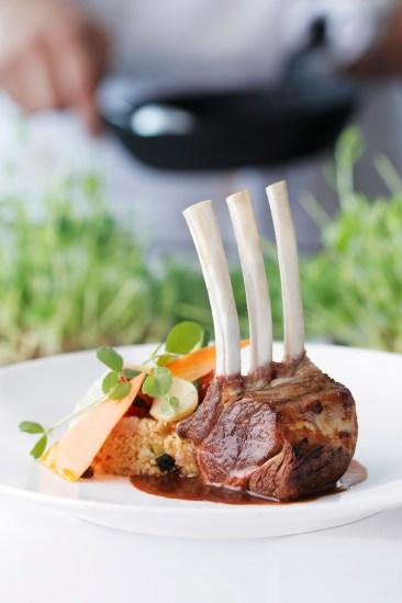 New Zealand lamb rack, garlic and rosemary