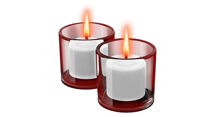 ритуал на скрученные красные свечи