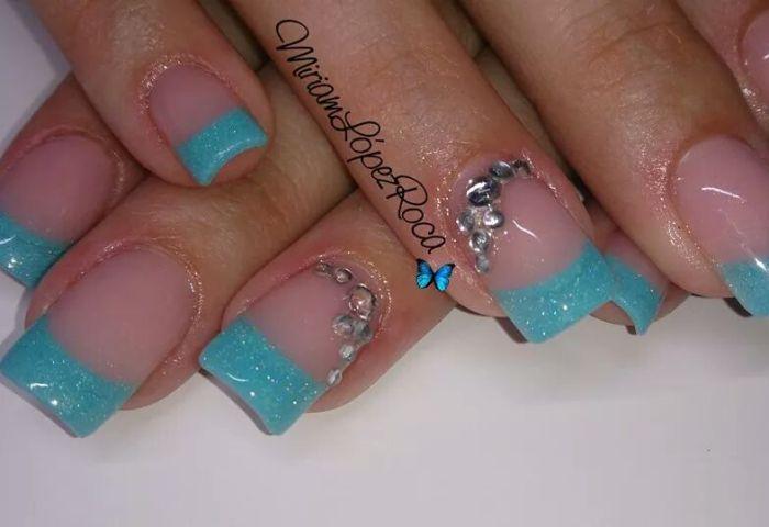 Turquesa Y Strass Miriam Dream Nails