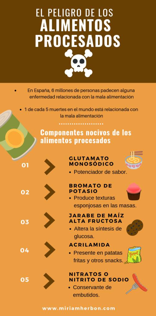el peligro de los alimentos procesados miriam herbon infografia bilbao dietas
