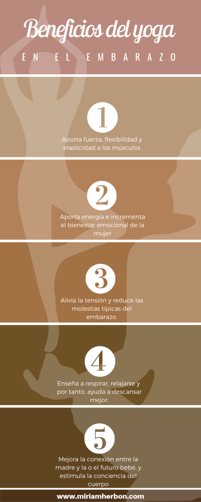 beneficios del yoga en el embarazo infografia bilbao embarazada hacer yoga