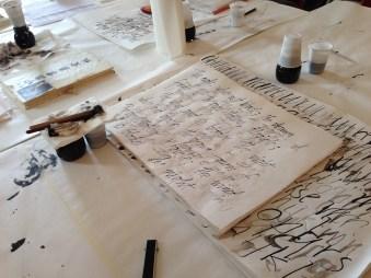 Monica Dengo, The art of handwriting, Museum Correr Library/Ca' Pesaro International Gallery of Modern Art, Venice, October 2–8, 2015 (photo: Miriam Jones).