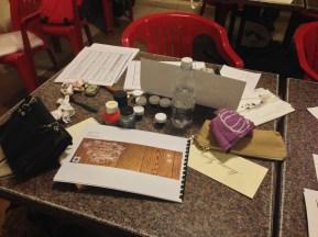 Barbara Calzolari's workshop on Engrosser script, Centro Sociale Giorgio Costa, Bologna, December 5–6, 2015 (photo: Miriam Jones).