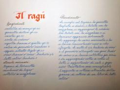 An example of Paola Bontadini's penmanship (photo: Miriam Jones).