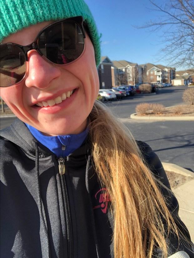 Me running in 10-20 degree temperatures