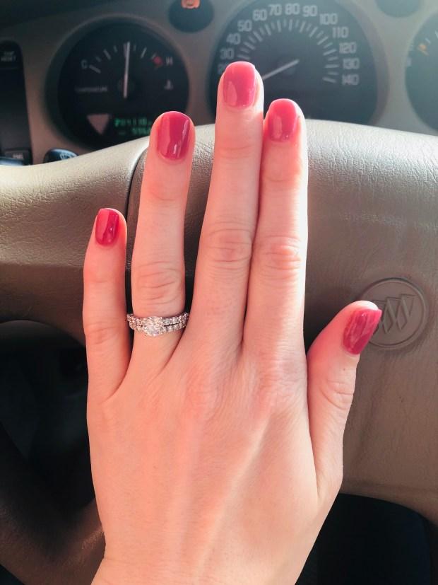 Fresh dip nail manicure