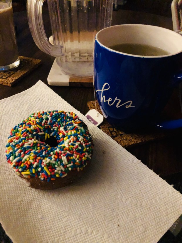 Bedtime tea and donut