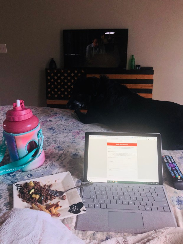 Job applications and lunch