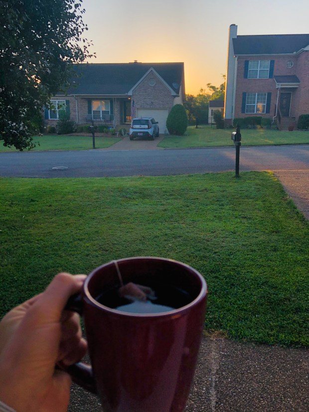 Tea and the sunset
