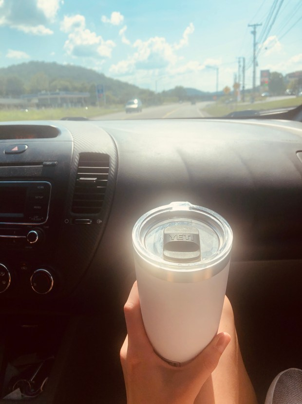 Iced coffee on the drive