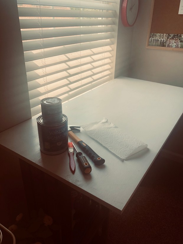 Painting and staining desk