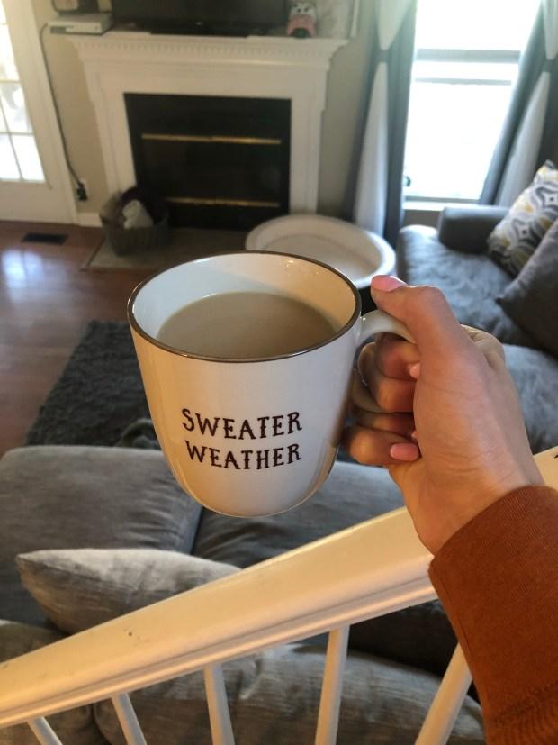 Coffee in a fall mug
