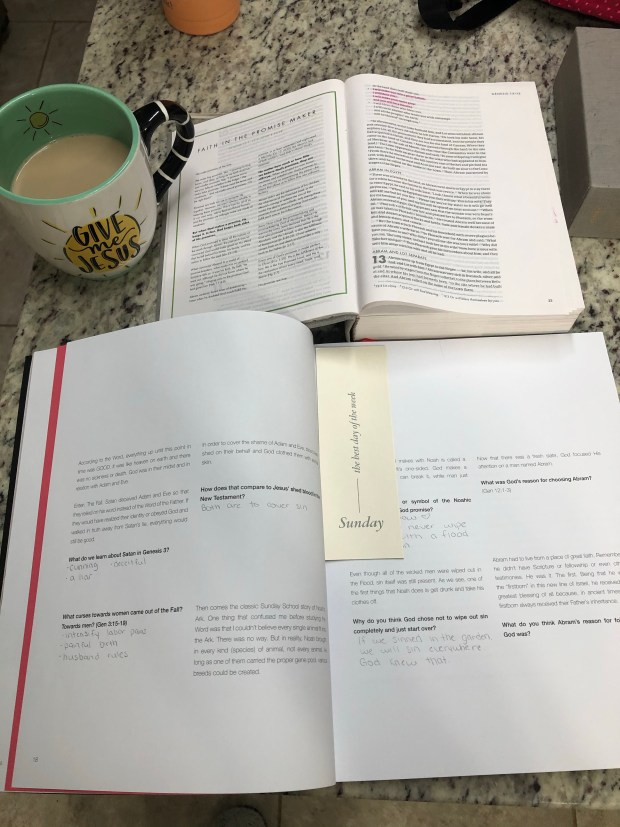 Morning devotional and coffee