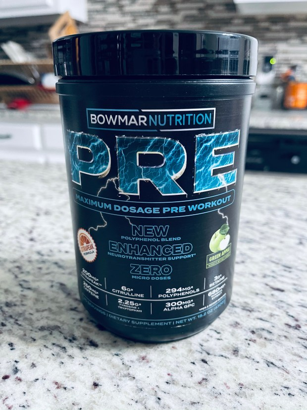 Bowmar Nutrition pre work out green apple