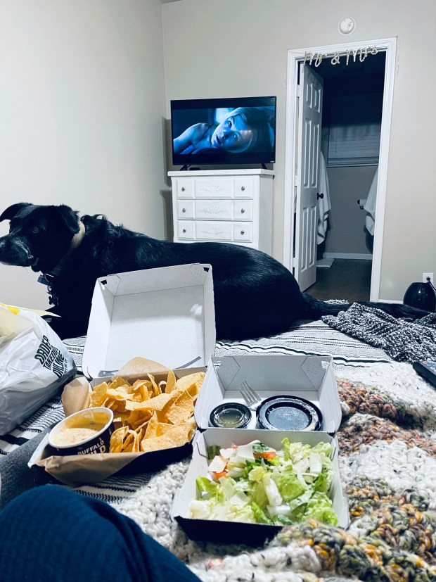 Wings and movie night