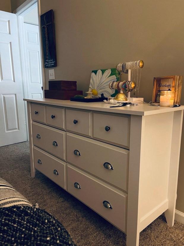 New dresser in bedroom