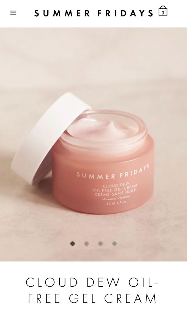 Summer Fridays moisturizer