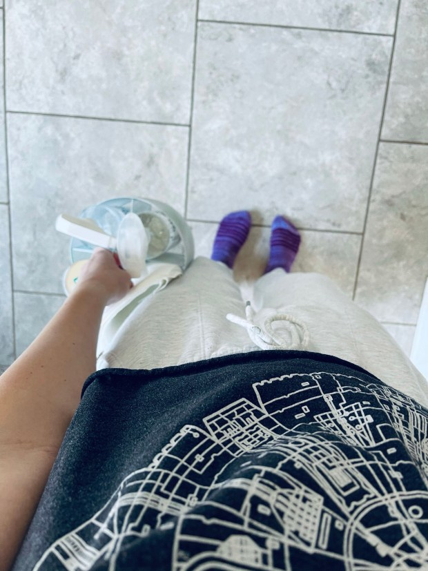 Cleaning supplies and outfit