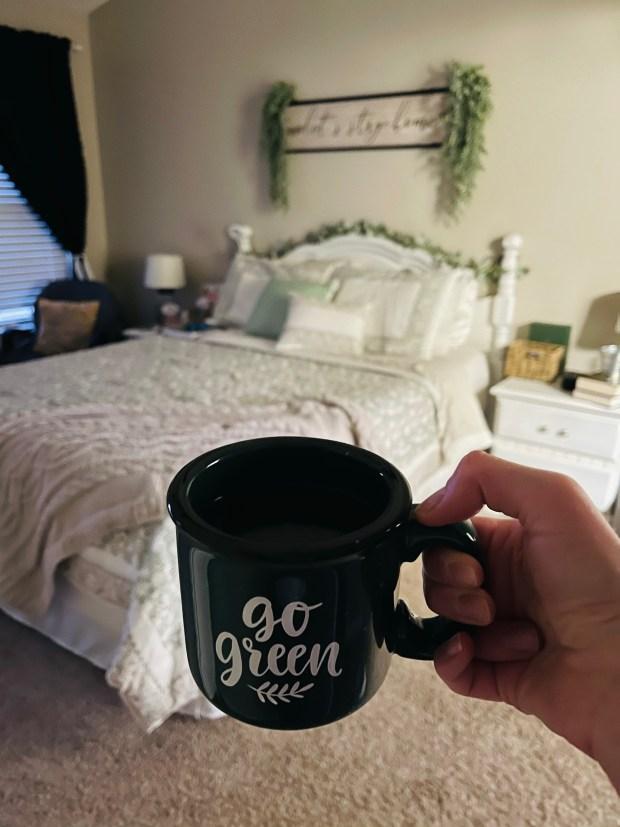 Bedtime tea and bedroom set up
