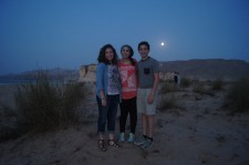 Me, Abigail and Jonathan under the full moon.