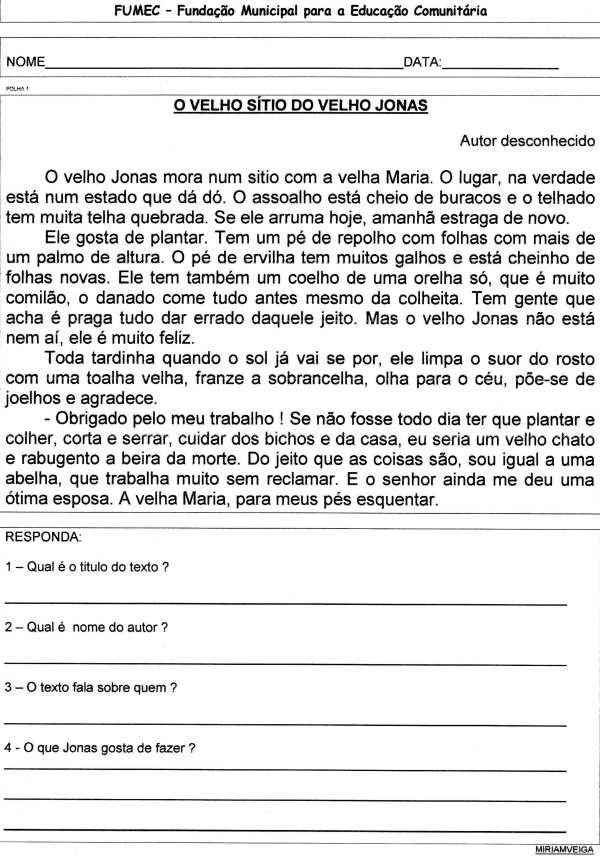 LEITURA E INTERPRETAÇÃO-O VELHO JONAS