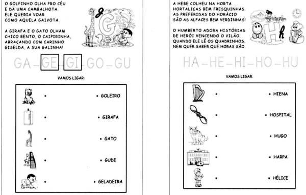Sílabas - Turma da Mônica - G e H
