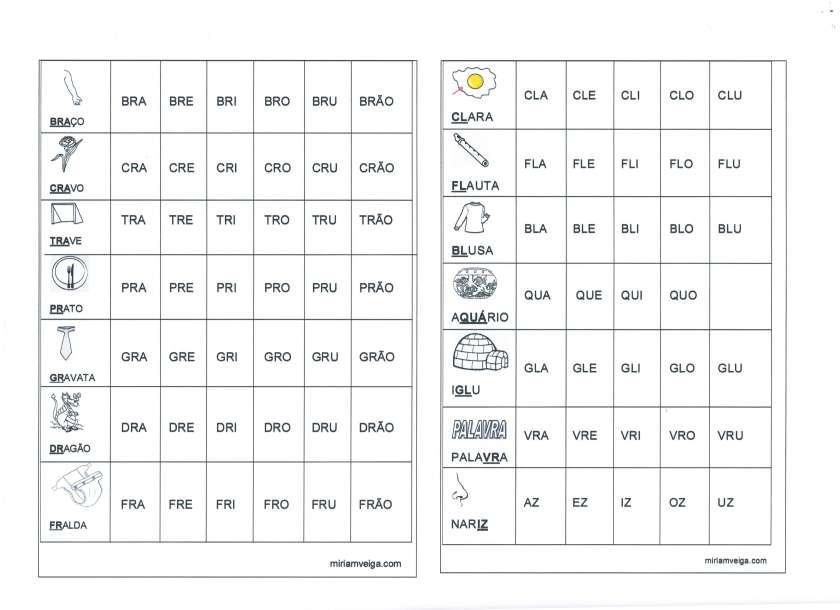 Tabela de sílabas para imprimir-Lado 2