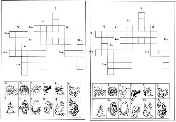 Cruzadinhas com figuras 2