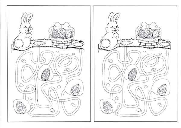 Labirinto de Páscoa-Ajude o coelho-Folha 1