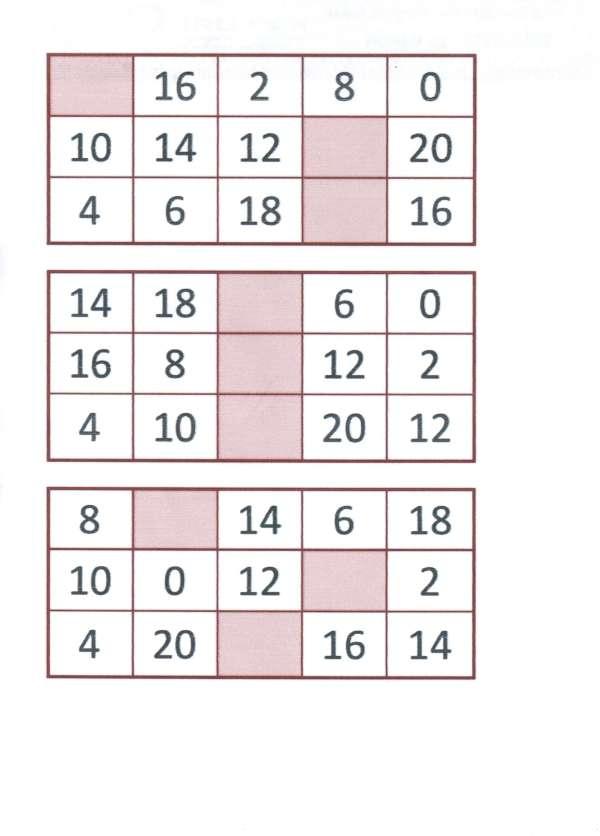 Bingo da Multiplicação-Folha 5