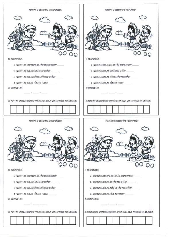 Festa Junina-Quantidade de Letras e Contagem-Folha 1