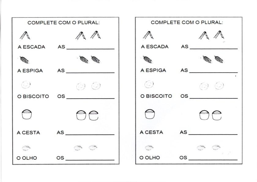 Diferencie o Singular e Complete com o Plural