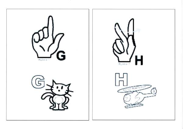 Alfabeto para sala com Libras-Parte 1-Letras G e H