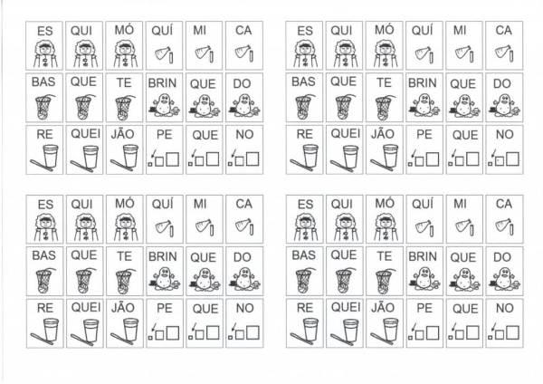Dificuldades Ortográficas-Figuras com Sílabas-AS-ES-Folha 2