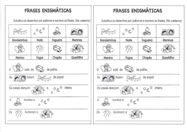 Organize as Frases Enigmáticas