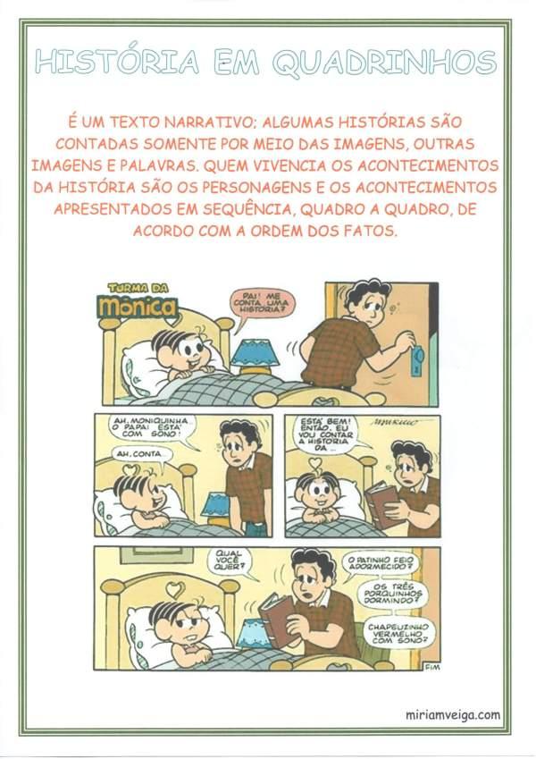Cartaz para Sala de Aula Gêneros Textuais-História em Quadrinhos