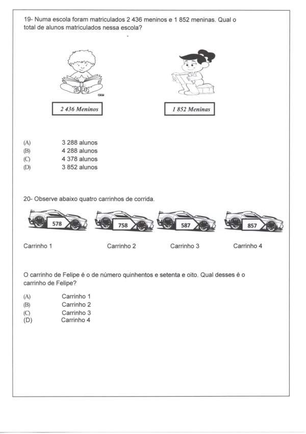 Avaliação Matemática-Sequência-Decomposição-Parte 2-Folha 3
