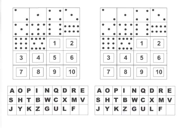 Atividade com numerais e Alfabeto