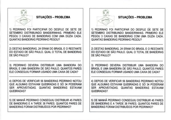 Dia da Independência do Brasil-Situações problema de matemática