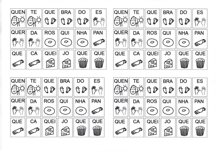Sílabas com Figuras para o aluno montar palavras