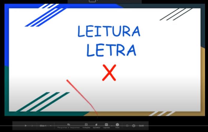 VIDEOAULA-ATIVIDADE DE LEITURA-LETRA X