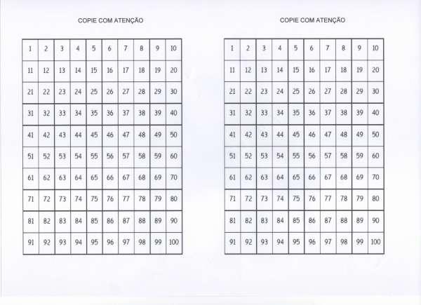 Atividade com numerais-Copie com Atenção-Folha 1