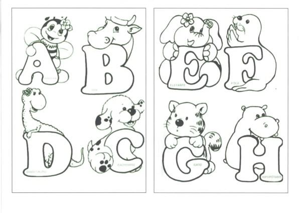 Alfabeto com Bichinhos para colorir-Folha 1