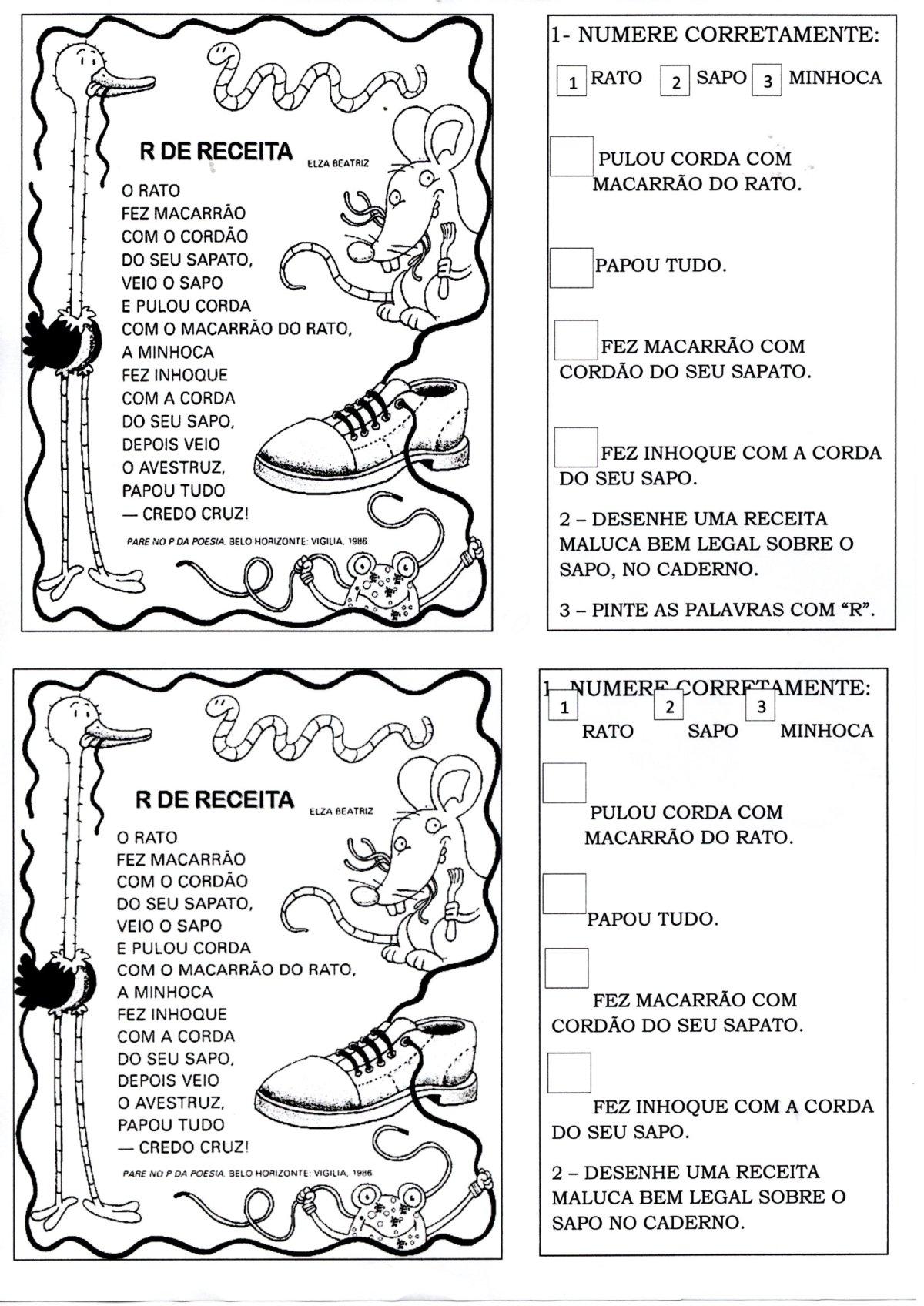 Poema com Interpretação R de Receita