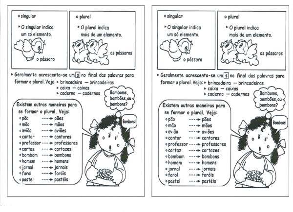 Diferenciando Singular e Plural